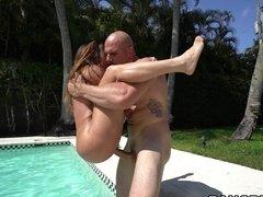 Curvy Juliana Vega fucked hard in the pool