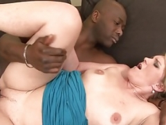 Eager mom Luisa takes black dick in her ass