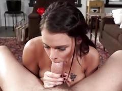 Largetitted Babe Peta Jensen Gives Amazing POV Large Dick Blowjob