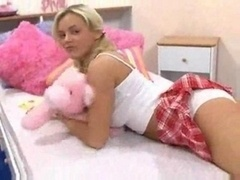Schoolgirl In Pigtails Having Ho...