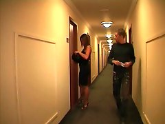 French couple  in a hotel