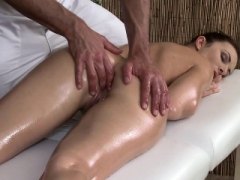Massage Rooms Sexy visitor enjoys studs large hard cock