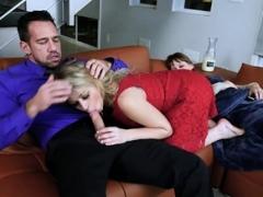Slutty Zoey Monroe enjoying her stepdad's big schlong