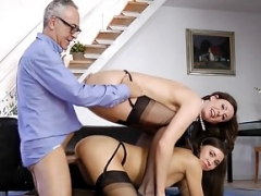 English mom i`d like to fuck doggystyled ontop babe in trio