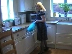 Big tits British Eager mom In Blue Stockings