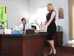 Blondine, Milf, Büro