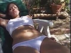 Haley Paige In White Panties Fucks poles Happy!