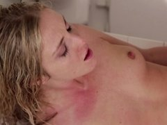 A sexy stepsister is getting her pussy pounded by her brother