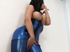 Latex Gal Raven Black Buries Face In RubberDoll's Crotch!