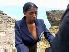 Big Titty Mexican Gives bj Oudoor In Beach