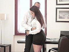 美女, フェラチオ, 茶髪の, 衣服着たままセックス, ハードコア, 淫乱熟女, オフィス, 濡れ