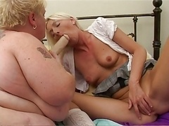 adult bbw lesbo with young and fresh wife