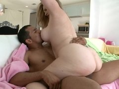 Well endowed dude is ready to please this curvy mature blonde