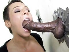 Ariel Alexis Deepthroats Black Fuck tool - Gloryhole