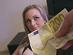 Czech slut loves money