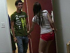 18 летние, Любители, Брюнетки, Одноклассница, Колледж, Секс без цензуры, Крошечные, Тощие