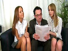 Teacher Punishes Slutty Broads Sophie And furthermore Ellie
