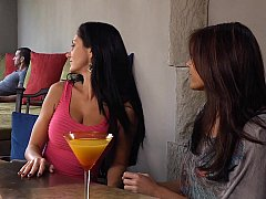Ava Addams, her friend and her neighbor