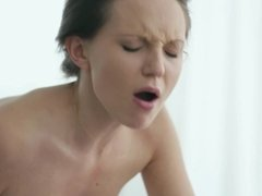 A hot girl that loves to suck dick is getting her pussy licked