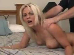 Mature blonde in point of view having an intercourse