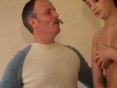 Old Lad Has Sex With A Teenage Broad Kitchen