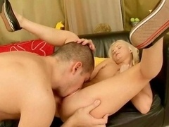 Sexy 18-19 y.o. blonde getting anal fucked
