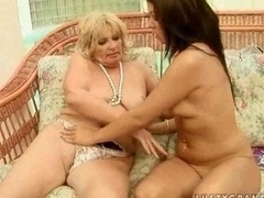 teen getting down and dirty boobalicious grandma