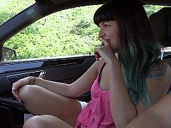 Next door Jamine giving head in the car