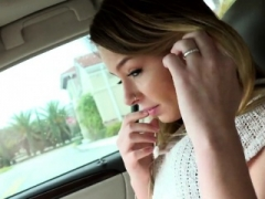 Blonde legal teen beauty makes love for free ride