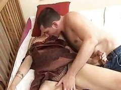 Underweight Granny Fucks the Boy