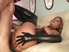Hot youthful Monica gets tight holes pounded hard by master