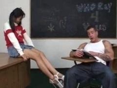 Oriental Schoolgirl Fucked Hard In Classroom