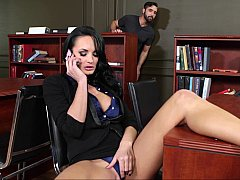 Her student walks in and catches her in the act