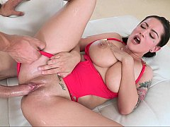 Amazing Katrina Jade sliding on a cock