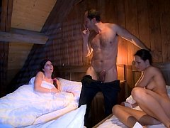 Exciting threesome sex with naughty females