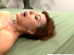 Large big-breasted mature slut brutally sodomized