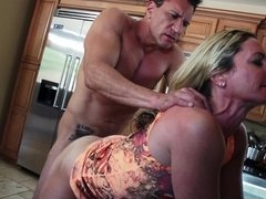 Cock loving blonde granny gets nailed by an European porn stud