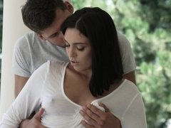A brunette that takes cock up her ass gets fucked really hard