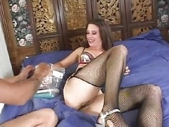 couple with double drilling tp dv squirting & a bat!