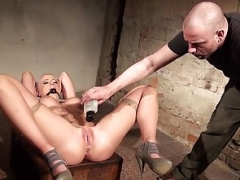 Victoria tied gagged and vibed but she secretly enjoys it