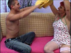 Mature Redhead Losing Her Panties At Poker