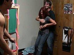 18 jaar, Enthousiasteling, Jonge meid, Vriendin, Hardcore, Klein, Roodharige vrouw, Tiener