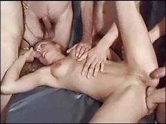 Sticky creampie Gang-fuck German Breeding