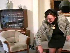 Granny Straps and moreover Spanks the Boy pt3