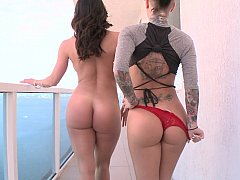 Three Perfect Asses and cocks