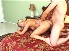 Unbelievable blond beauty gets banged