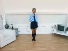 Jo Guest In School Uniform Stripping naked