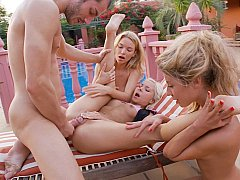 Three 18 year old teens share a cock