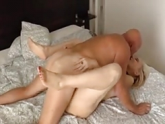 Grown-up lady knows how to fuck her man.