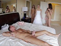 美人, ベッドルーム, 結婚, 乱交, グループ, パーティ, 結婚式